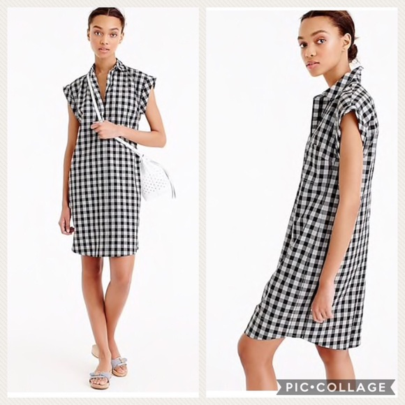 51c30e22ae5 J. Crew Dresses   Skirts - Classic short-sleeve shirtdress in gingham